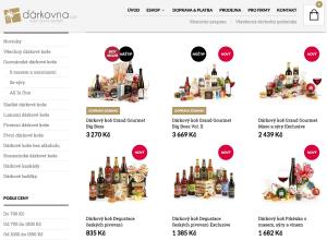 Dárkovna.com nabízí vyvážené a velmi hezké dárkové koše